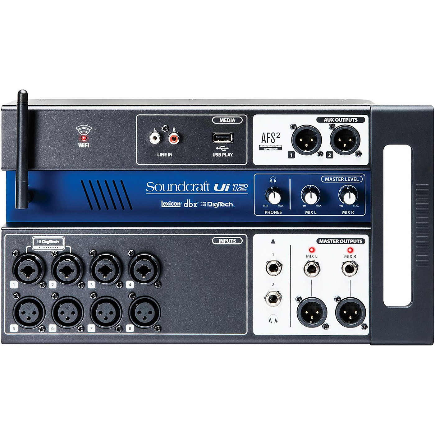 Soundcraft Ui12 Digital Mixer with Wi-Fi Router thumbnail