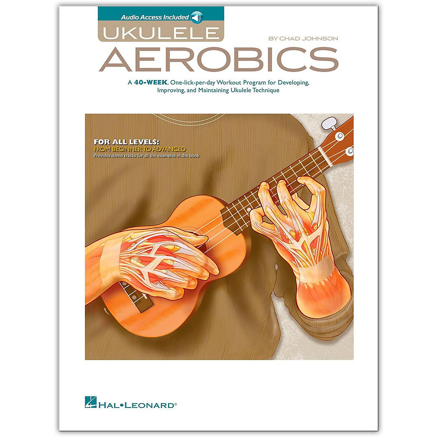 Hal Leonard Ukulele Aerobics - For All Levels, from Beginner to Advanced (Book/Online Audio) thumbnail