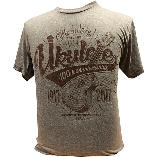 Martin Ukulele for Centennial Celebration - Gray T-Shirt thumbnail