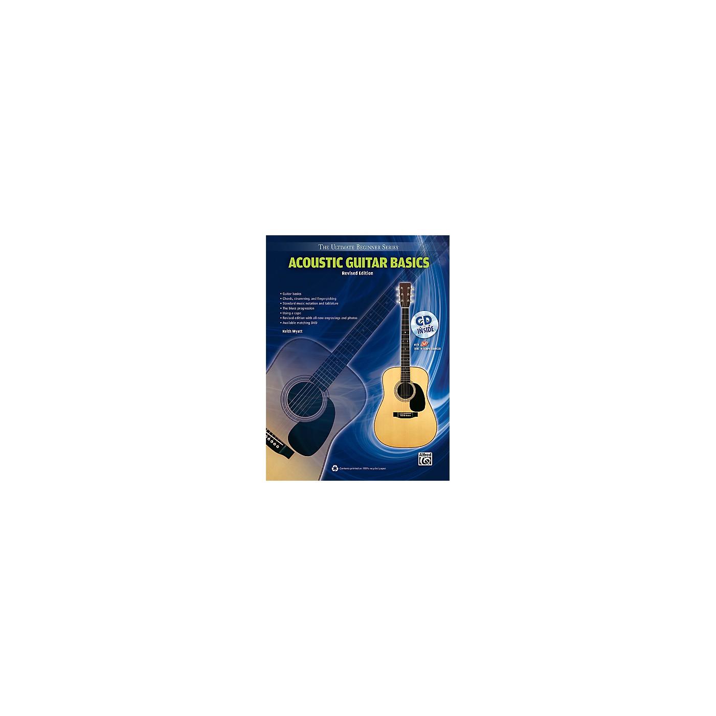 Alfred Ultimate Beginner Acoustic Guitar Basics (Revised Edition) Book & CD thumbnail