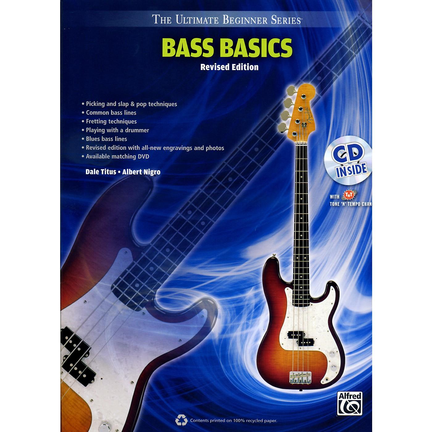 Alfred Ultimate Beginner Bass Basics (Revised Edition) Book & CD thumbnail