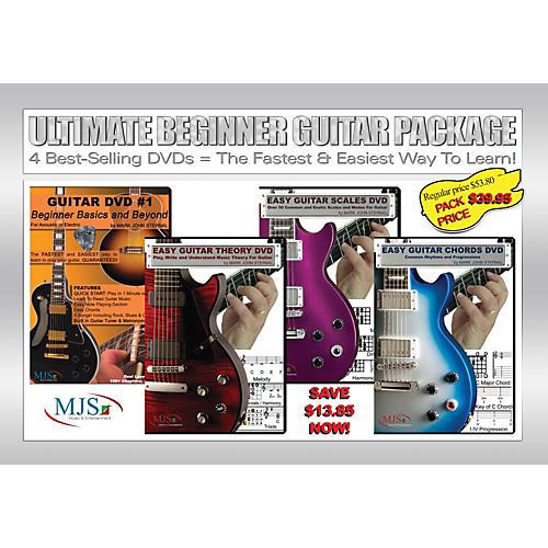 MJS Music Publications Ultimate Beginner Guitar 4 DVD Package thumbnail