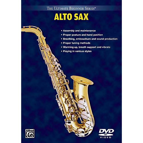 Alfred Ultimate Beginner Series: Alto Saxophone Volumes I & II DVD thumbnail