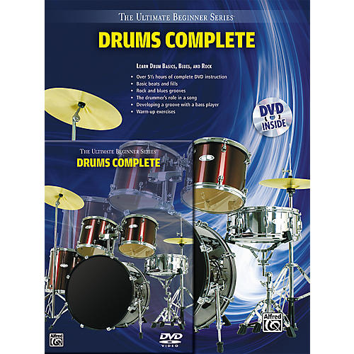 Alfred Ultimate Beginner Series Drums Complete Book & DVD thumbnail