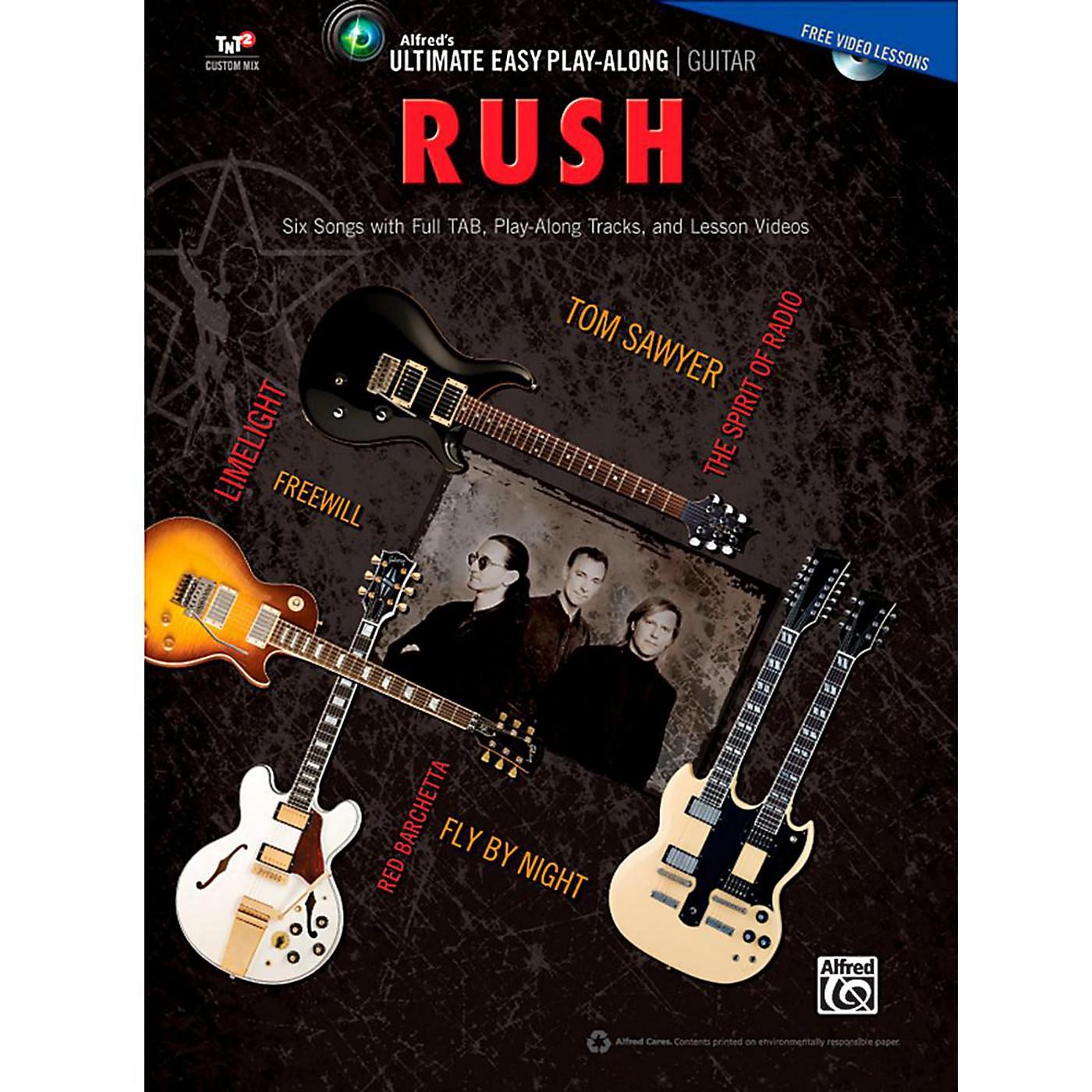 Alfred Ultimate Easy Guitar Play-Along: Rush - Easy Guitar TAB Songbook & DVD thumbnail