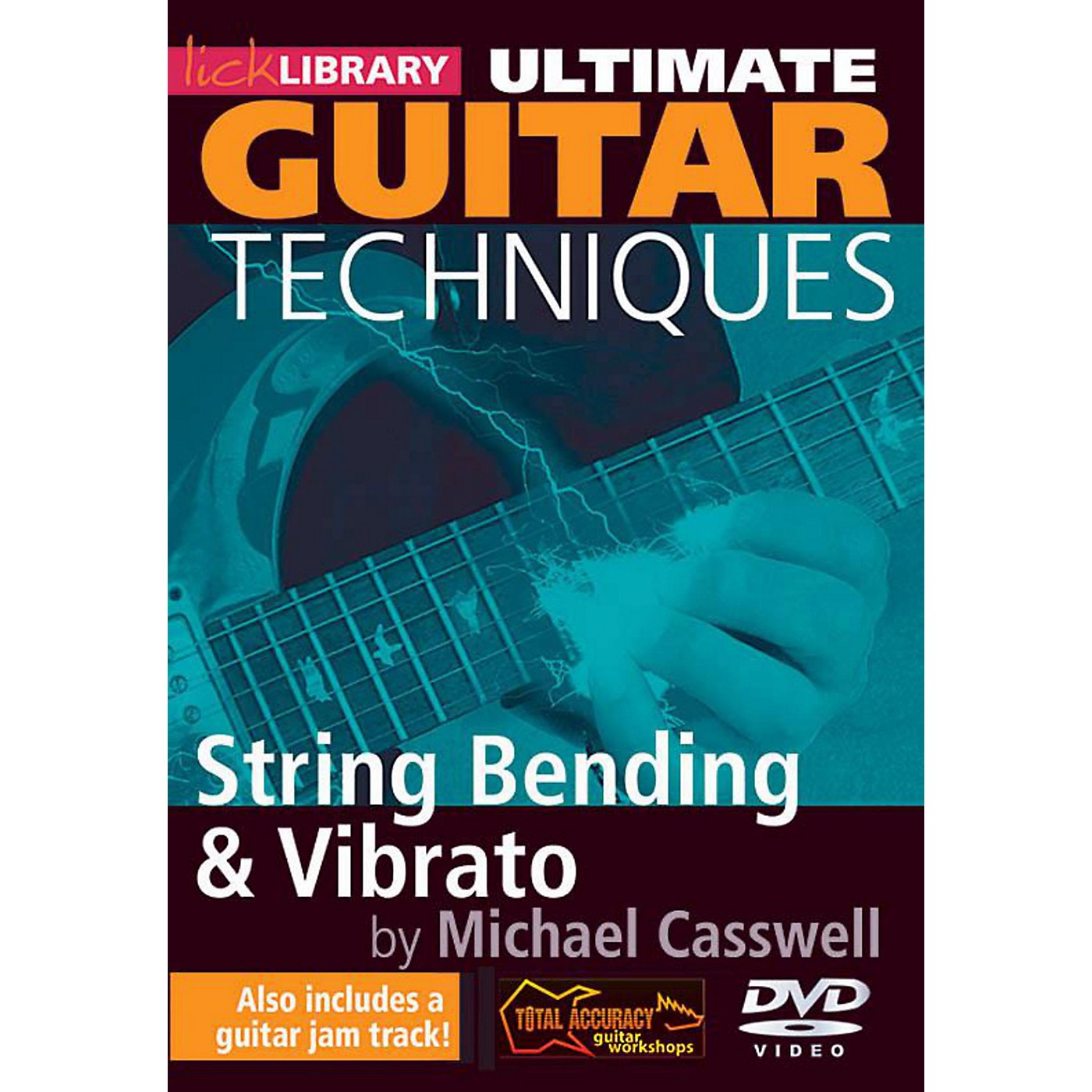Hal Leonard Ultimate Guitar Techniques - String Bending And Vibrato Lick Library DVD thumbnail