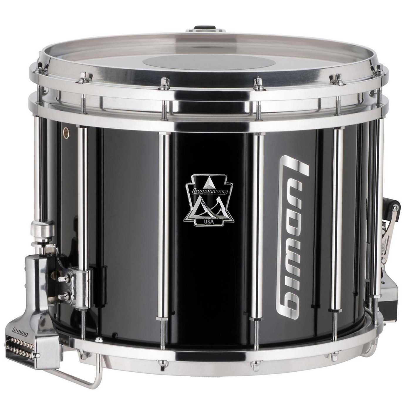 Ludwig Ultimate Marching Snare Drum, 14 x 12 in., Black thumbnail