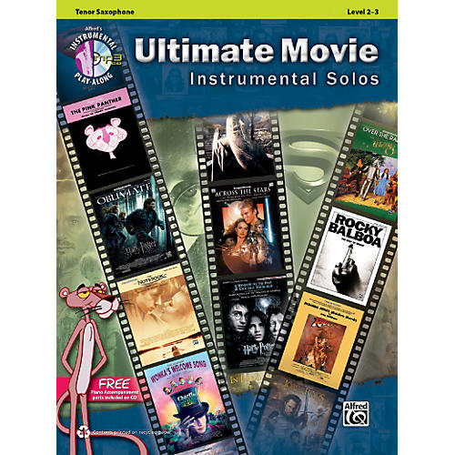 Alfred Ultimate Movie Instrumental Solos for Tenor Sax Book & CD thumbnail