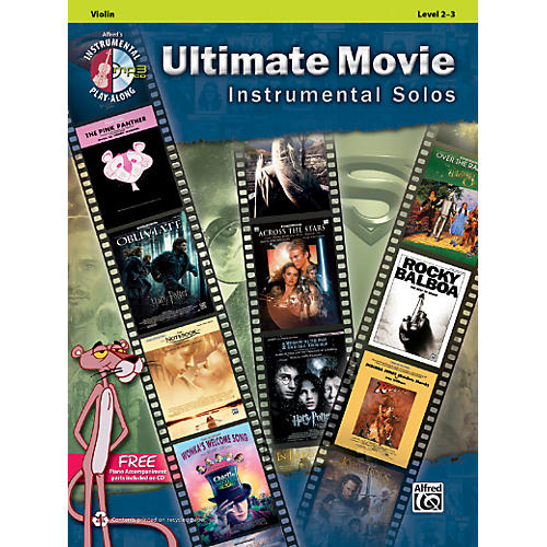 Alfred Ultimate Movie Instrumental Solos for Violin Book & CD thumbnail