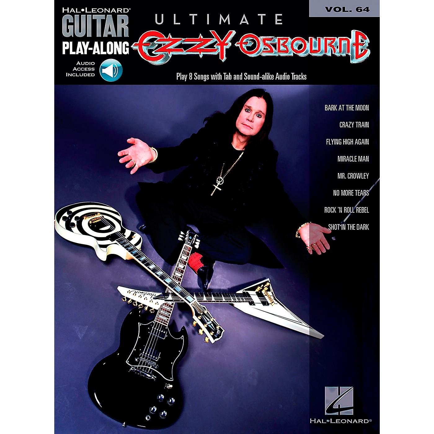 Hal Leonard Ultimate Ozzy Osbourne - Guitar Play-Along Series, Volume 64 (Book/Online Audio) thumbnail