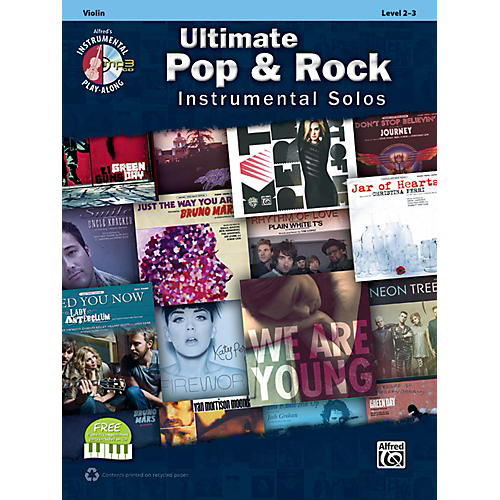 Alfred Ultimate Pop & Rock Instrumental Solos for Strings Violin Book & CD thumbnail