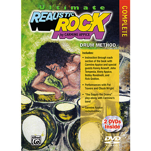 Alfred Ultimate Realistic Rock Complete Drum Method DVD thumbnail