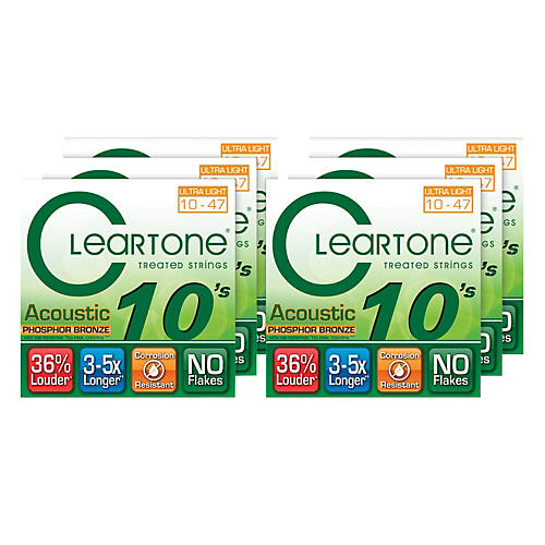 Cleartone Ultra Light Acoustic Guitar Strings 6 Pack thumbnail