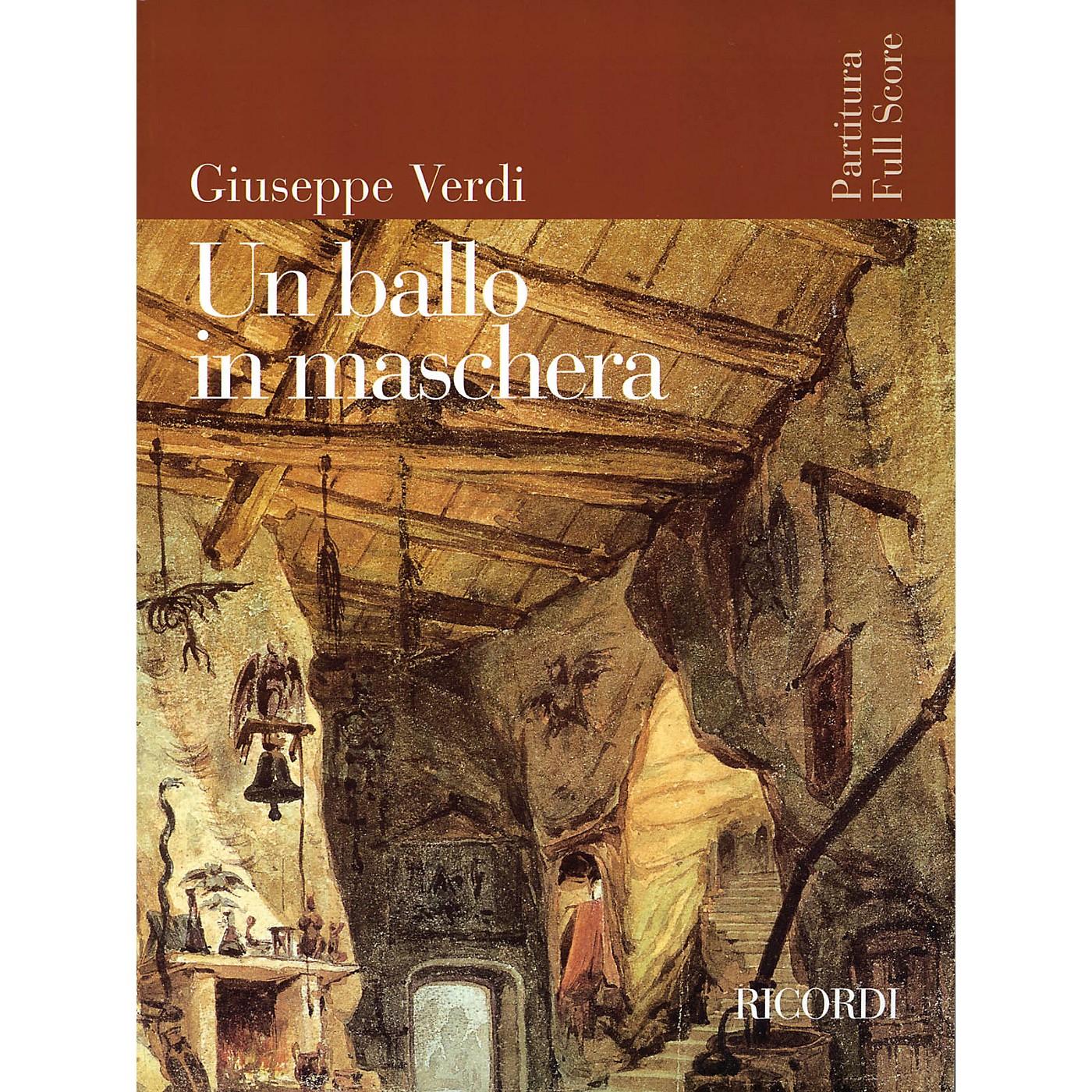 Ricordi Un Ballo in Maschera (Opera Full Score) Study Score Series Composed by Giuseppe Verdi thumbnail