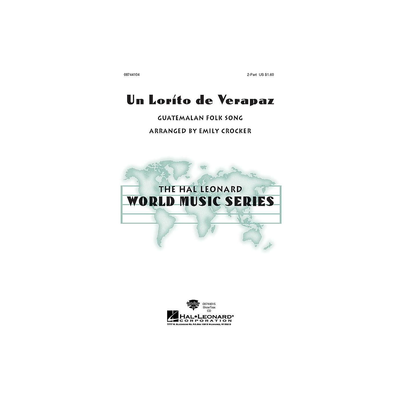 Hal Leonard Un Lorito De Verapaz 2-Part arranged by Emily Crocker thumbnail