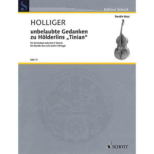 Schott Unbelaubte Gedanken zu Hölderlins Tinian (Double Bass Solo) String Solo Series Softcover thumbnail