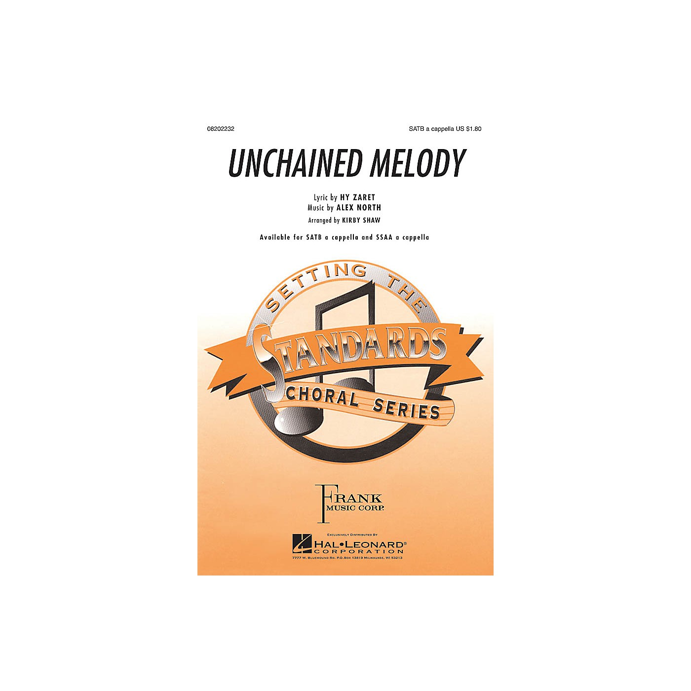 Hal Leonard Unchained Melody SSAA A Cappella Arranged by Kirby Shaw thumbnail