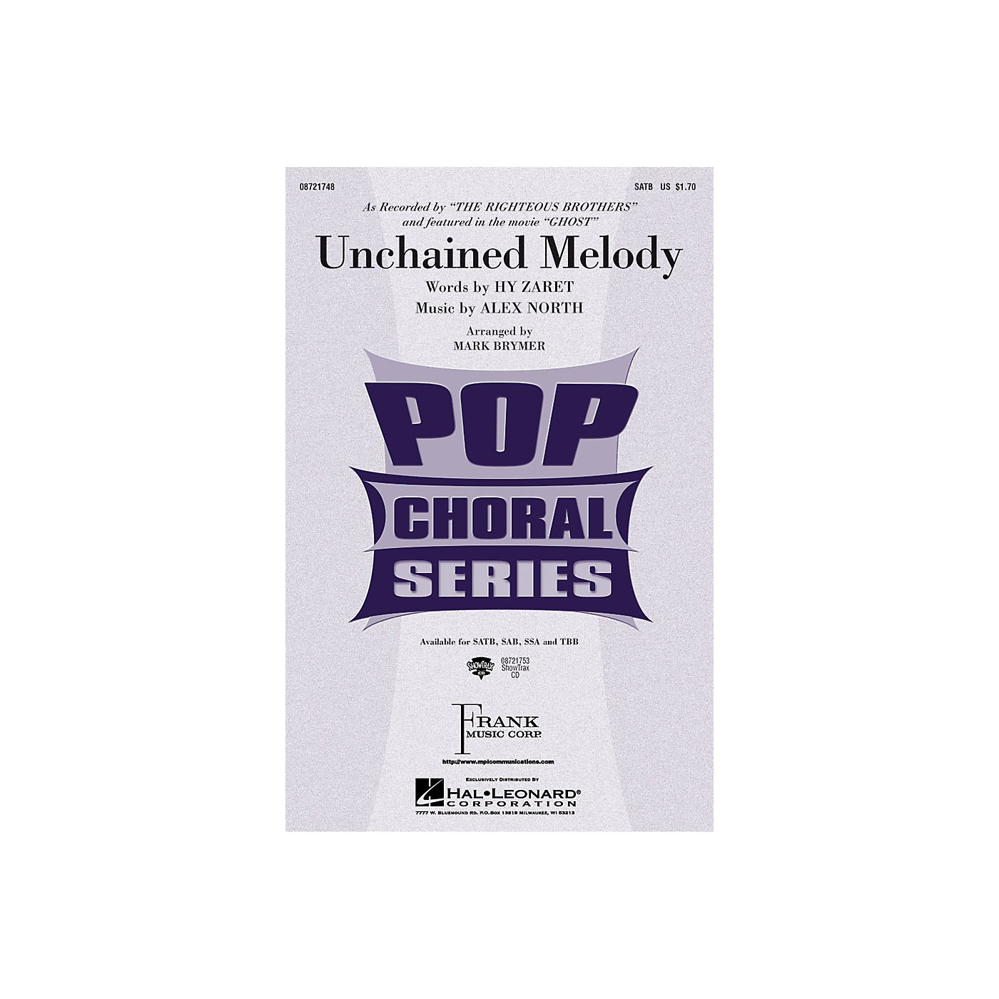 Hal Leonard Unchained Melody TBB by The Righteous Brothers Arranged by Mark Brymer thumbnail