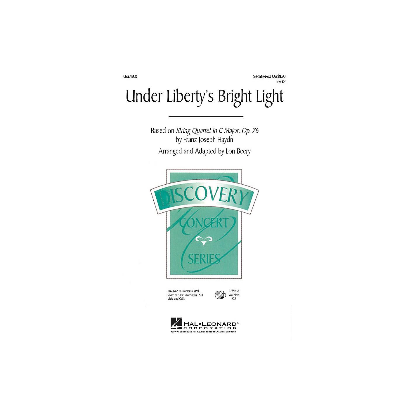 Hal Leonard Under Liberty's Bright Light VoiceTrax CD Arranged by Lon Beery thumbnail