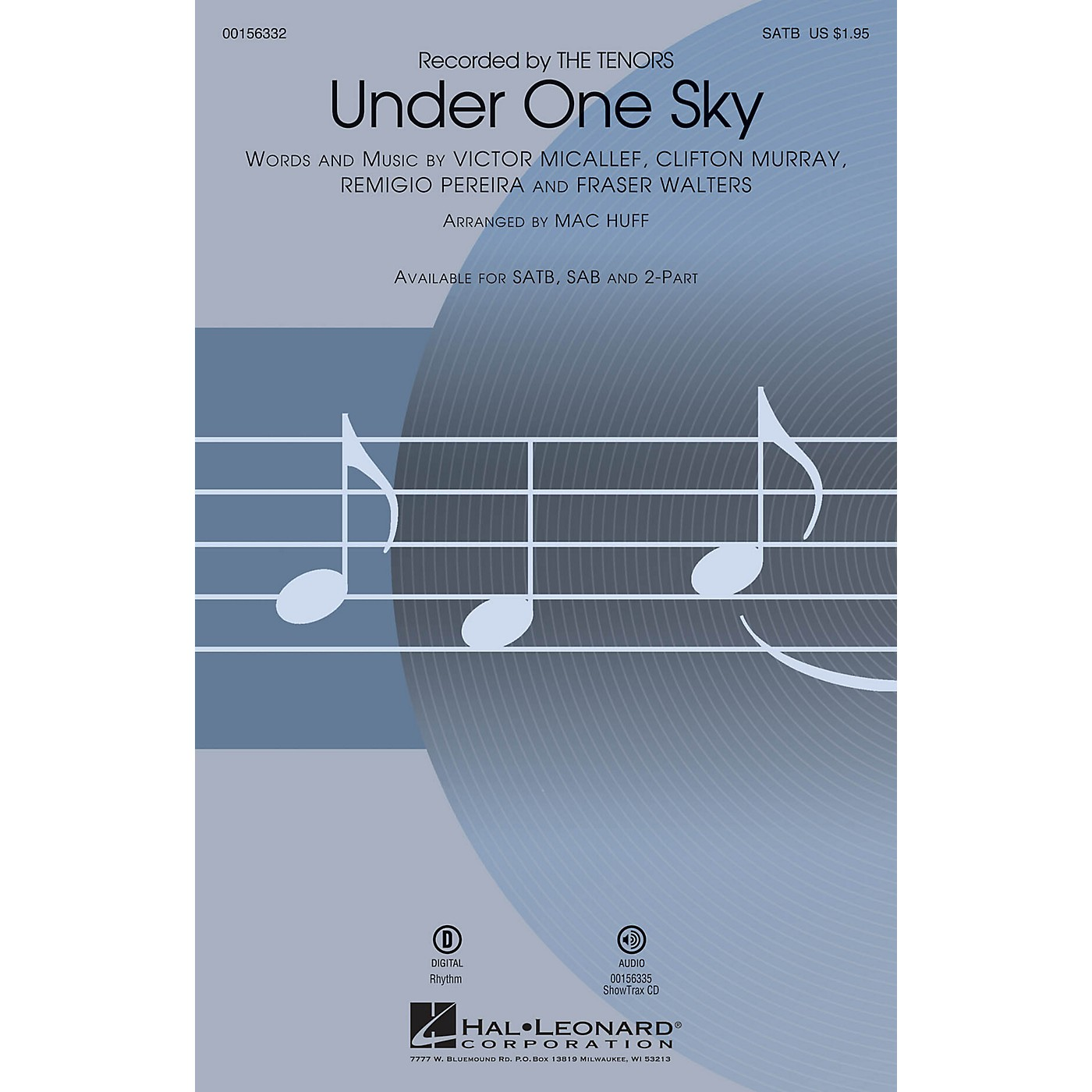 Hal Leonard Under One Sky SATB by The Tenors arranged by Mac Huff thumbnail