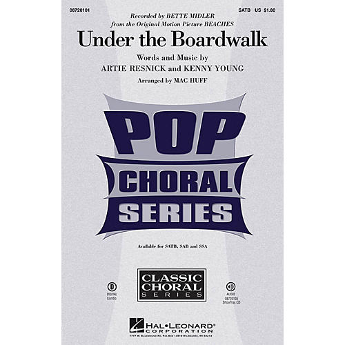 Hal Leonard Under the Boardwalk SAB by Bette Midler Arranged by Mac Huff thumbnail