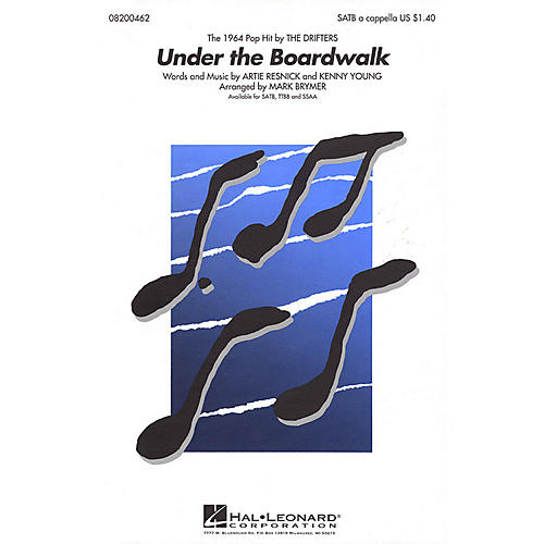 Hal Leonard Under the Boardwalk TTBB A Cappella by The Drifters Arranged by Mark Brymer thumbnail