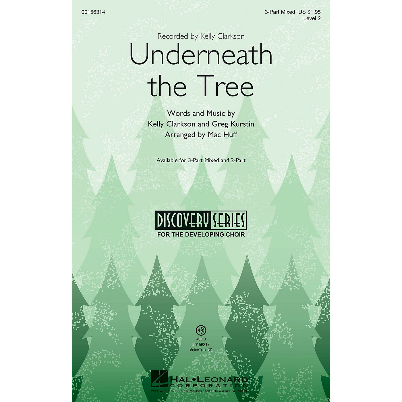Hal Leonard Underneath the Tree (Discovery Level 2) 3-Part Mixed arranged by Mac Huff thumbnail