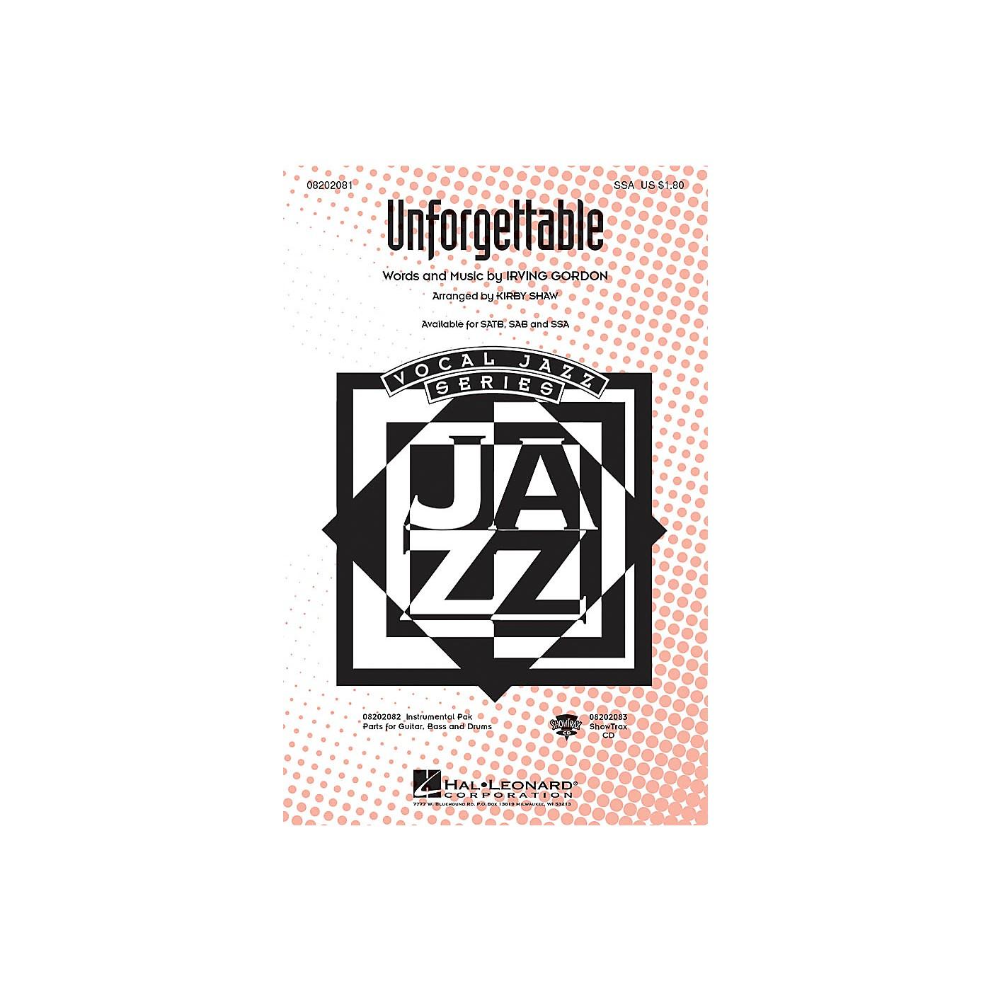 Hal Leonard Unforgettable SSA arranged by Kirby Shaw thumbnail