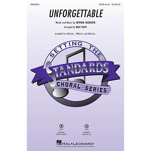Hal Leonard Unforgettable SSAA DIVISI Arranged by Mac Huff thumbnail