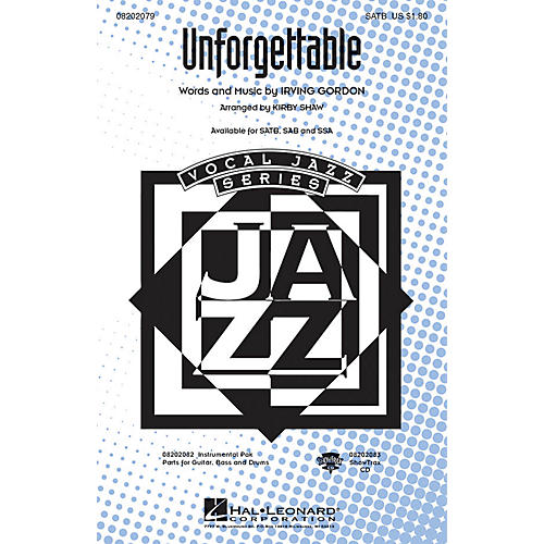 Hal Leonard Unforgettable ShowTrax CD Arranged by Kirby Shaw thumbnail