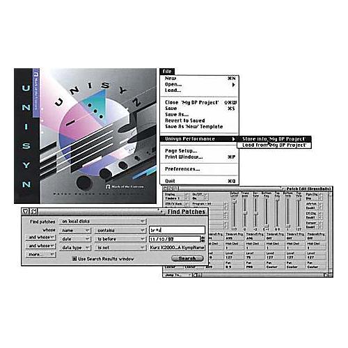 MOTU Unisyn Universal MIDI Device Editor/Librarian 1.5 for Mac-thumbnail