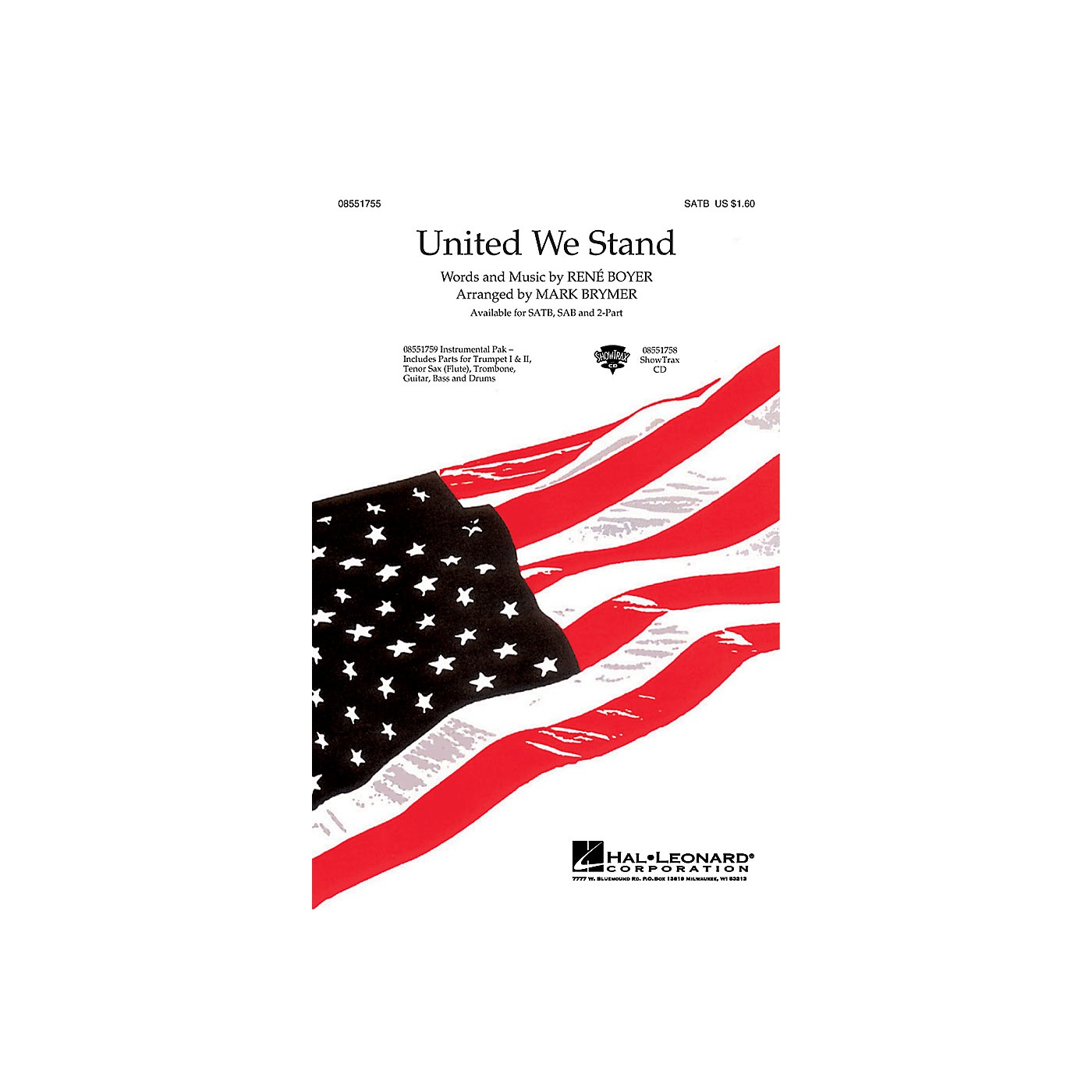 Hal Leonard United We Stand ShowTrax CD Arranged by Mark Brymer thumbnail