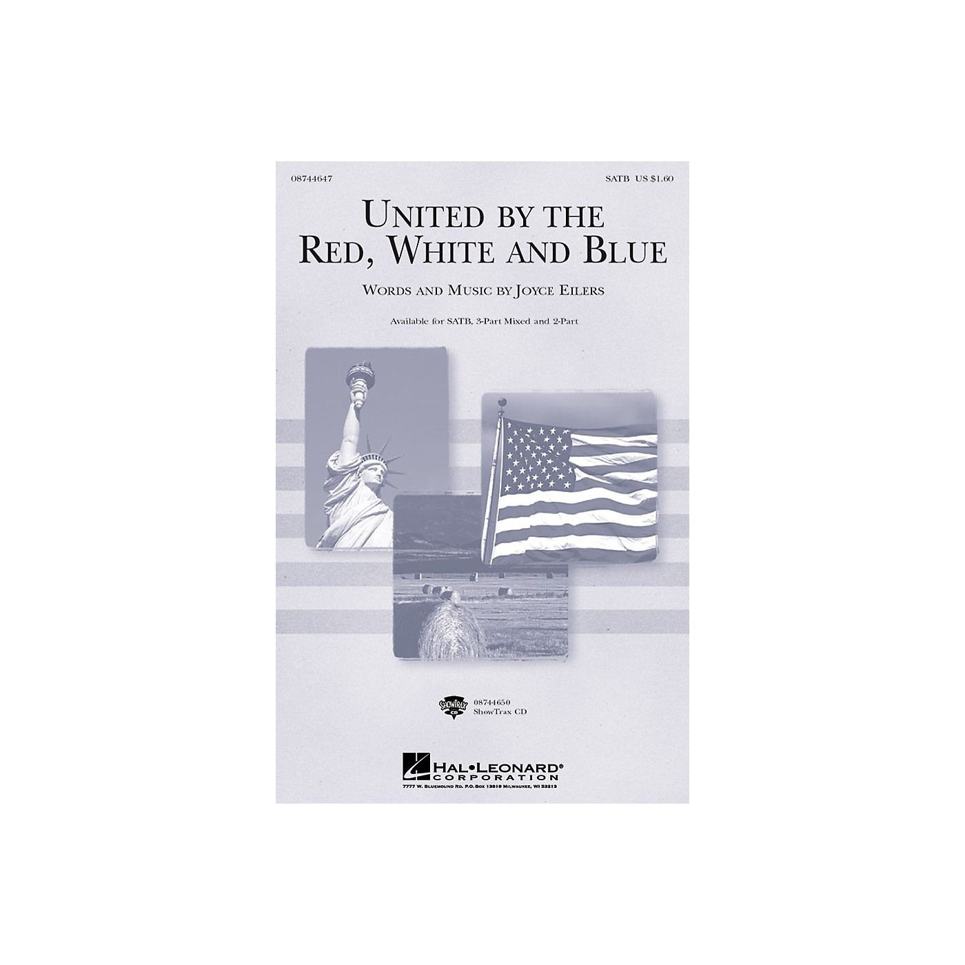 Hal Leonard United by the Red, White and Blue 3-Part Mixed Composed by Joyce Eilers thumbnail