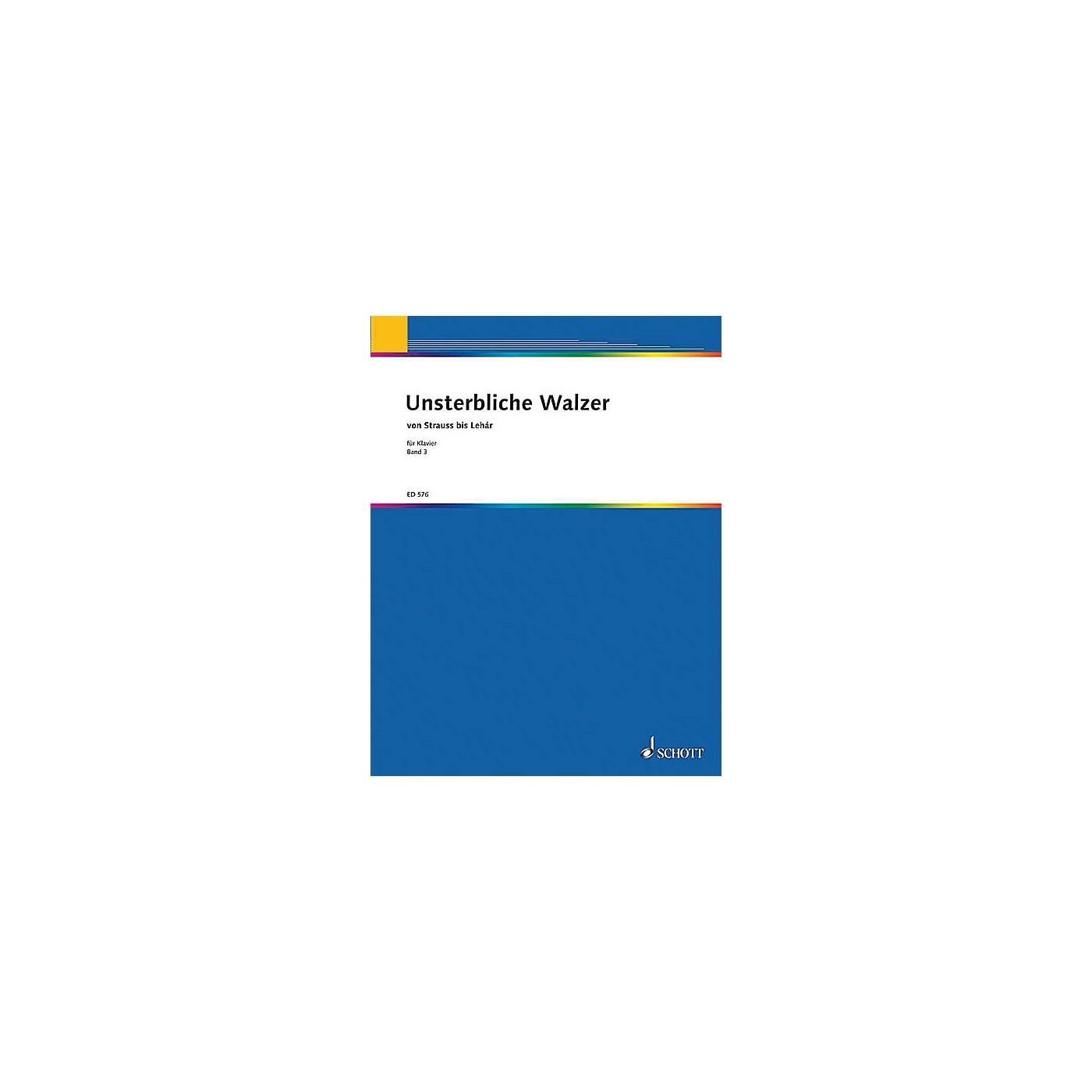 Schott Unsterbliche Walzer V. 3 Pf Part Schott Series thumbnail