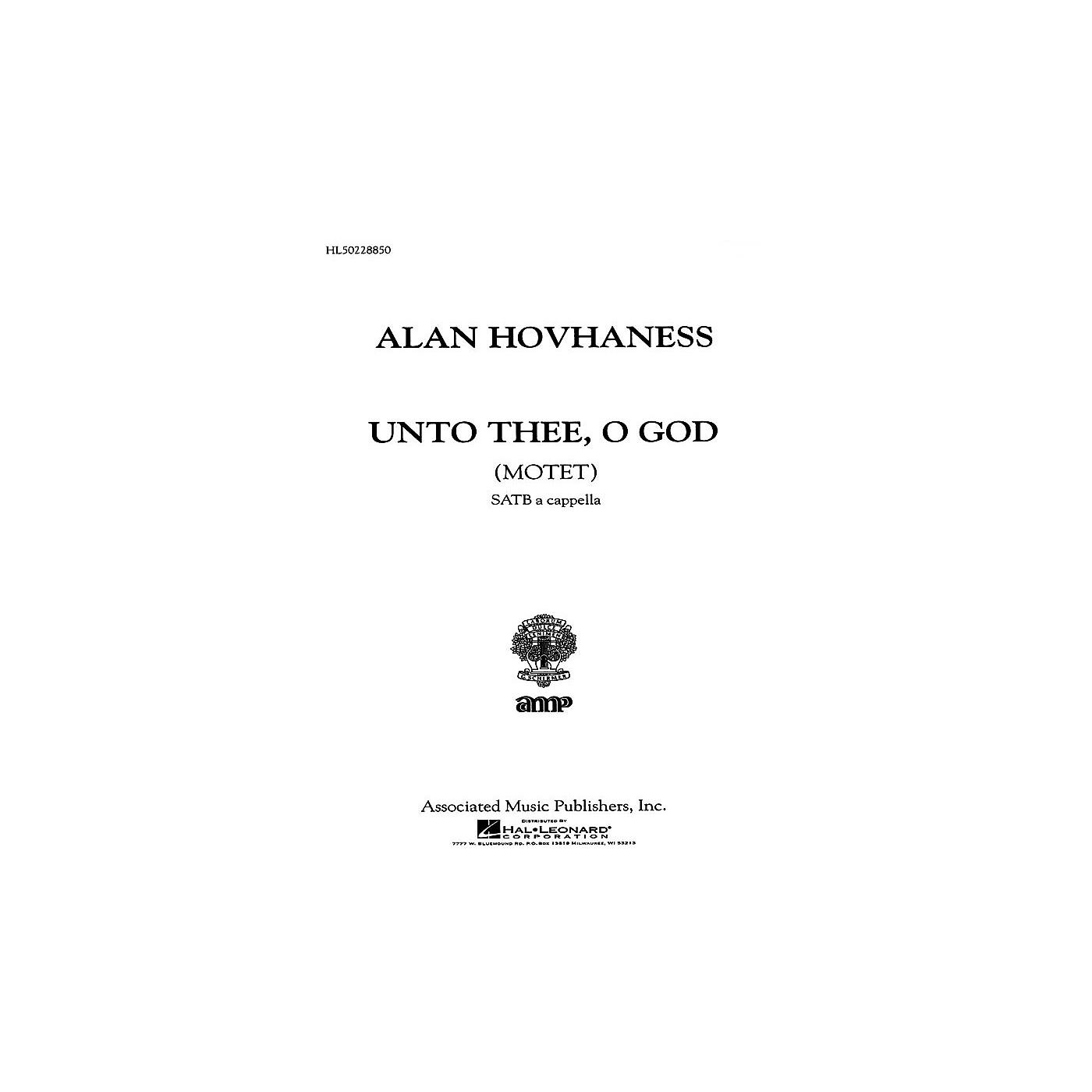 Associated Unto Thee O God  Motet A Cappella SATB composed by A Hovhaness thumbnail