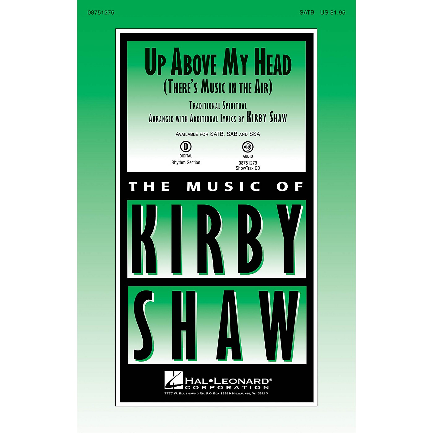 Hal Leonard Up Above My Head (There's Music in the Air) SATB arranged by Kirby Shaw thumbnail
