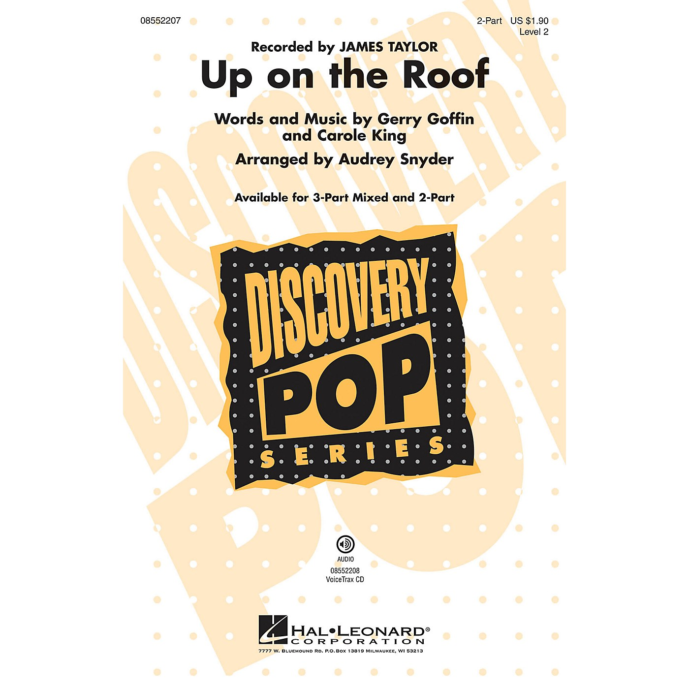 Hal Leonard Up on the Roof 2-Part by James Taylor arranged by Audrey Snyder thumbnail