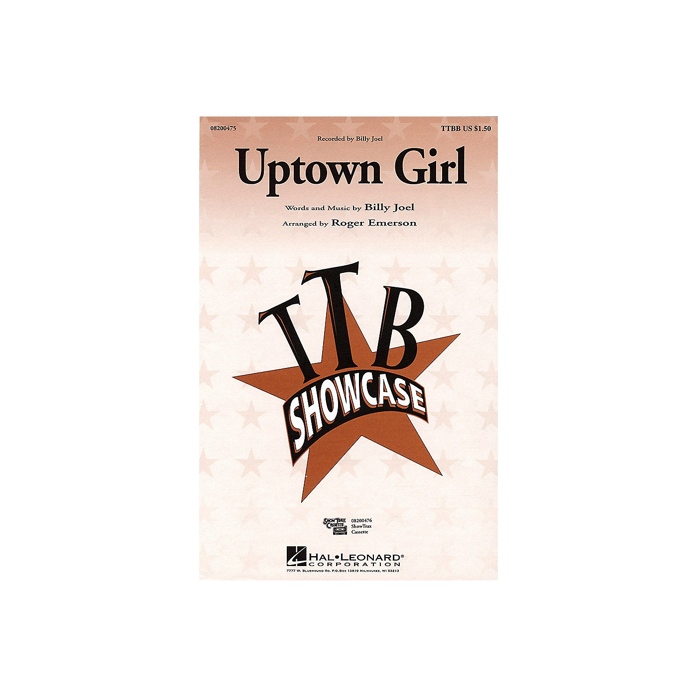 Hal Leonard Uptown Girl ShowTrax CD by Billy Joel Arranged by Roger Emerson thumbnail