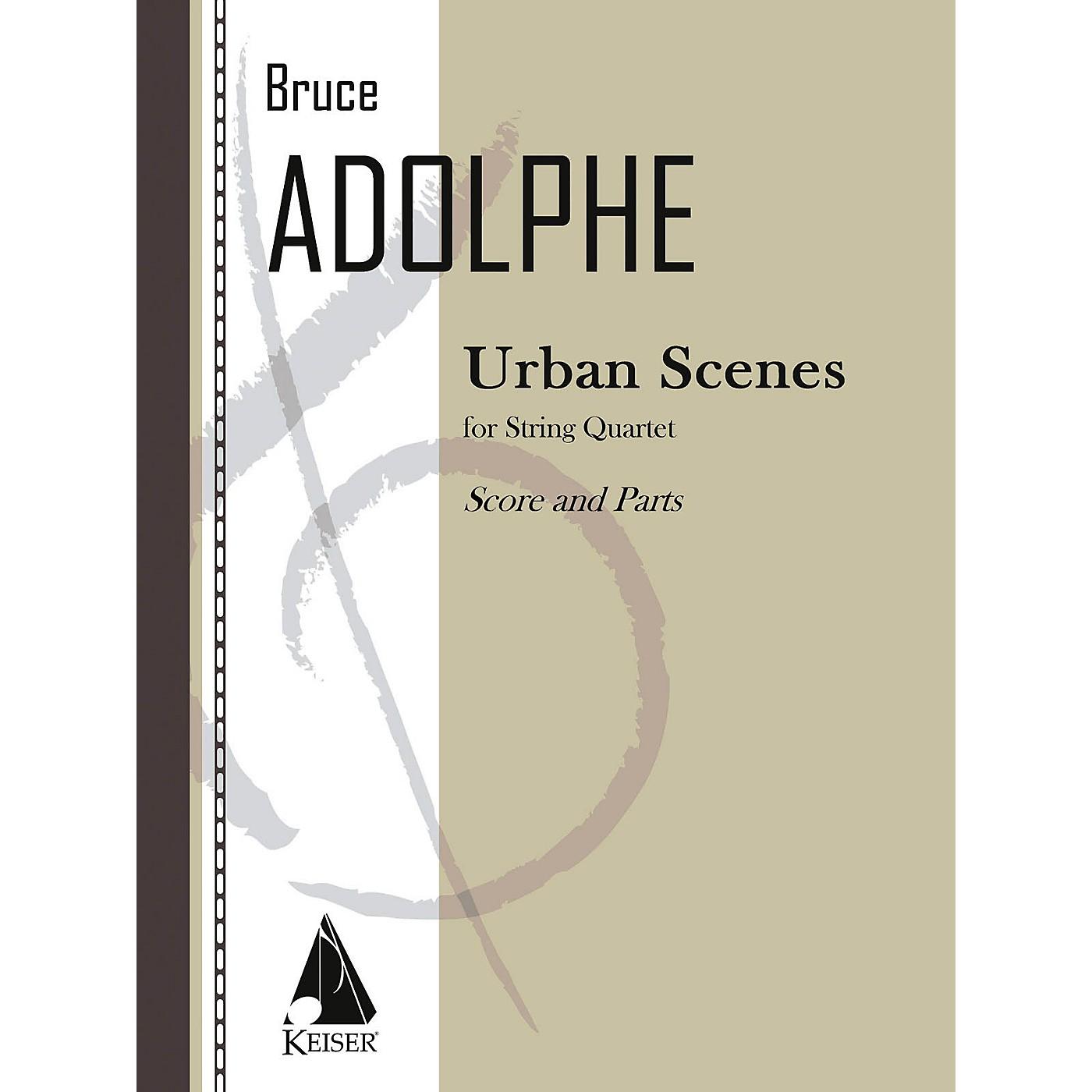Lauren Keiser Music Publishing Urban Scenes (String Quartet) LKM Music Series Composed by Bruce Adolphe thumbnail