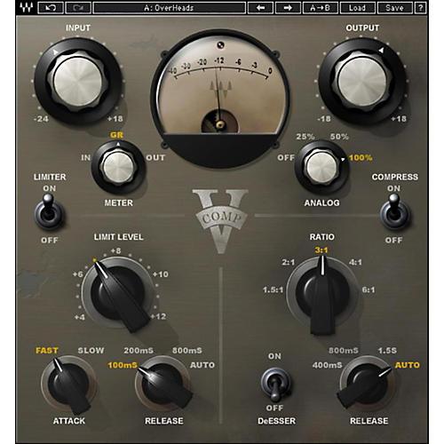 Waves V-Comp Native/TDM/SG Software Download thumbnail