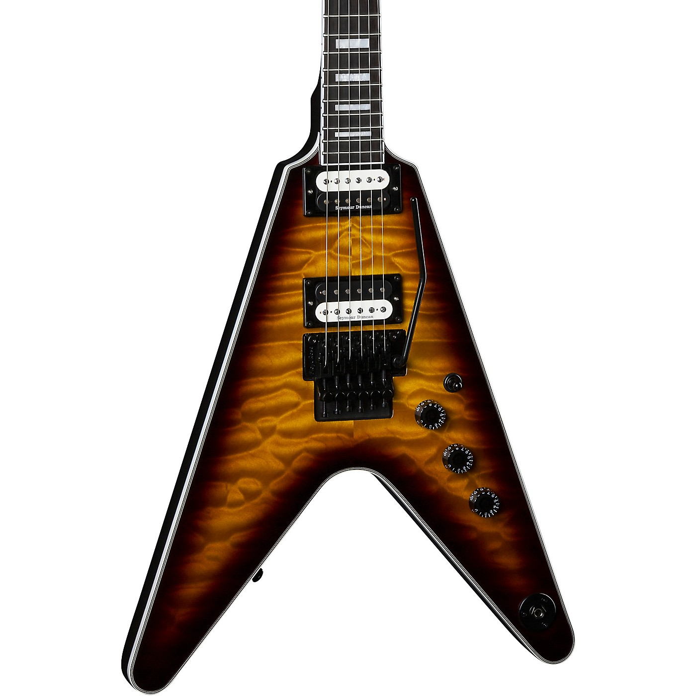 Dean V Select with Floyd Quilt Top Electric Guitar thumbnail