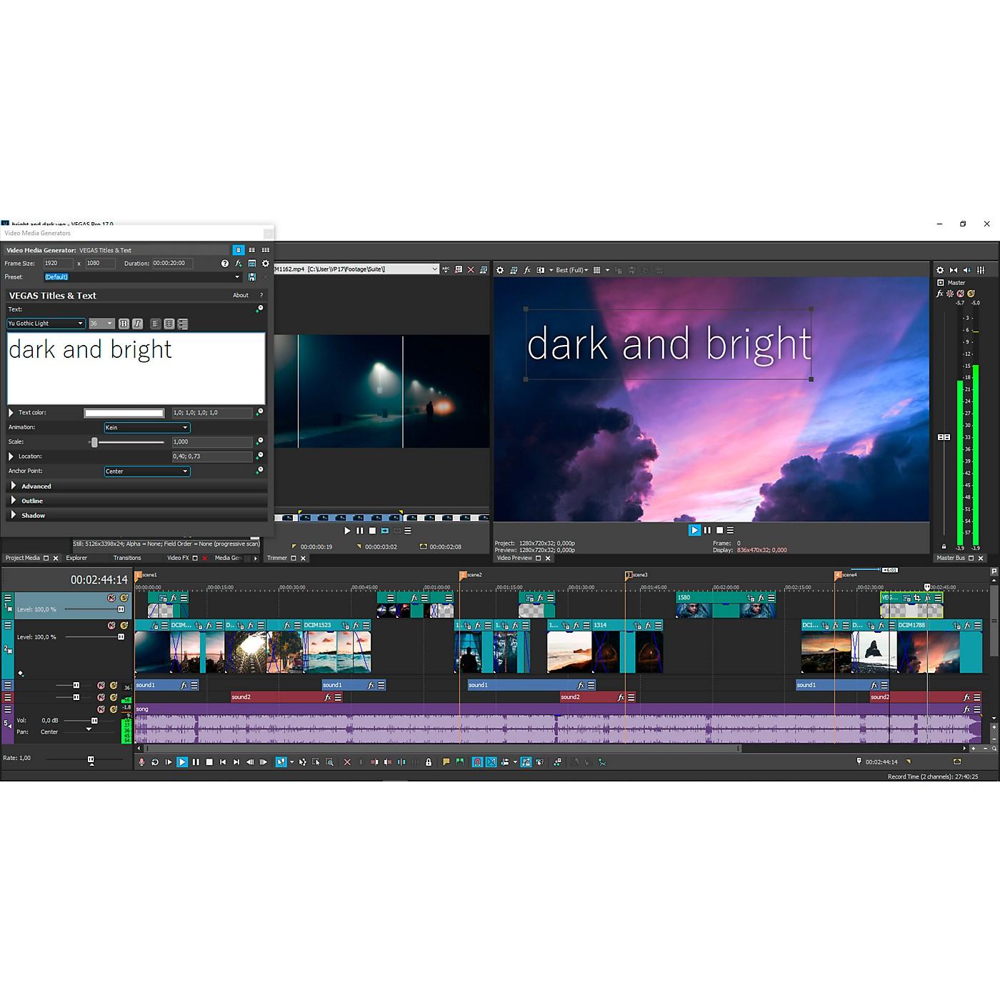 Magix VEGAS Pro 17 Suite (Download) thumbnail