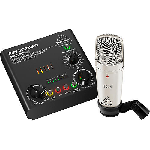 Behringer VOICE STUDIO Bundle With Studio Condenser Mic and Tube Preamplifier-USB/Audio Interface thumbnail