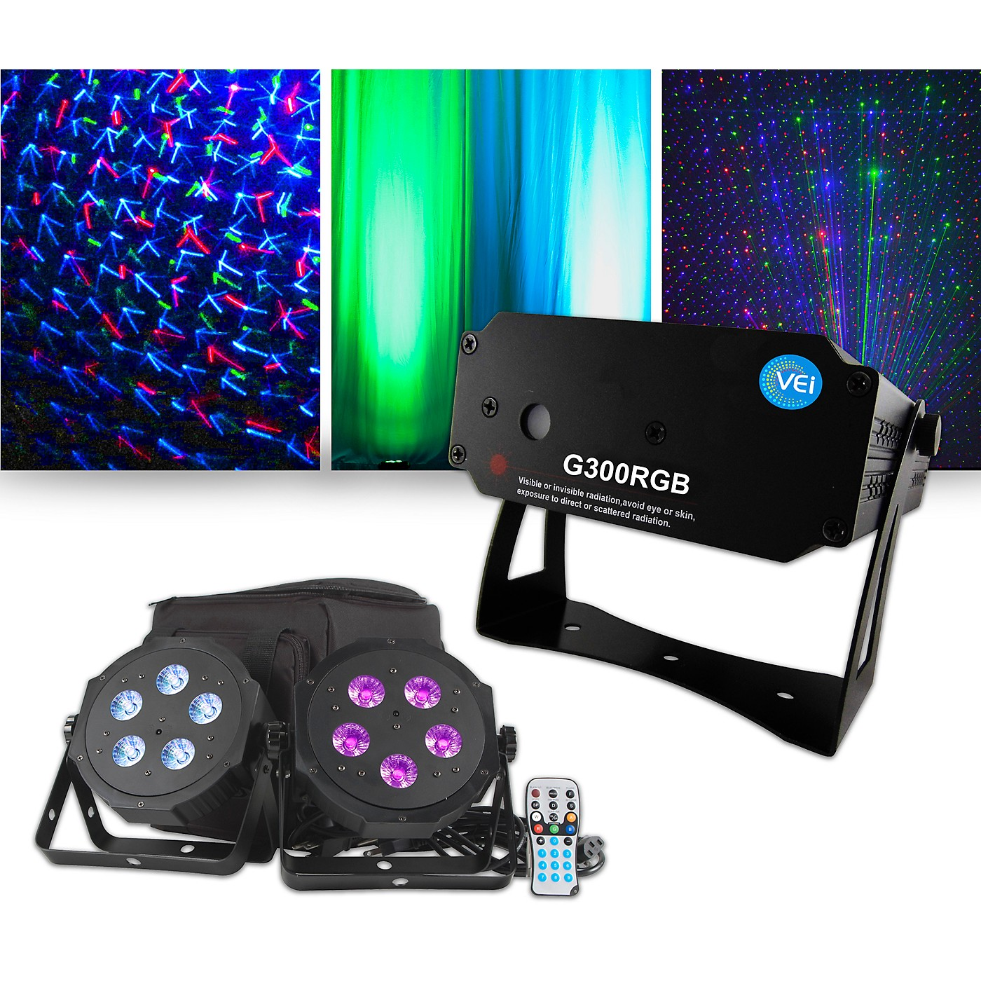 American DJ VPAR Pak Lighting Package with VEI RGB Laser thumbnail