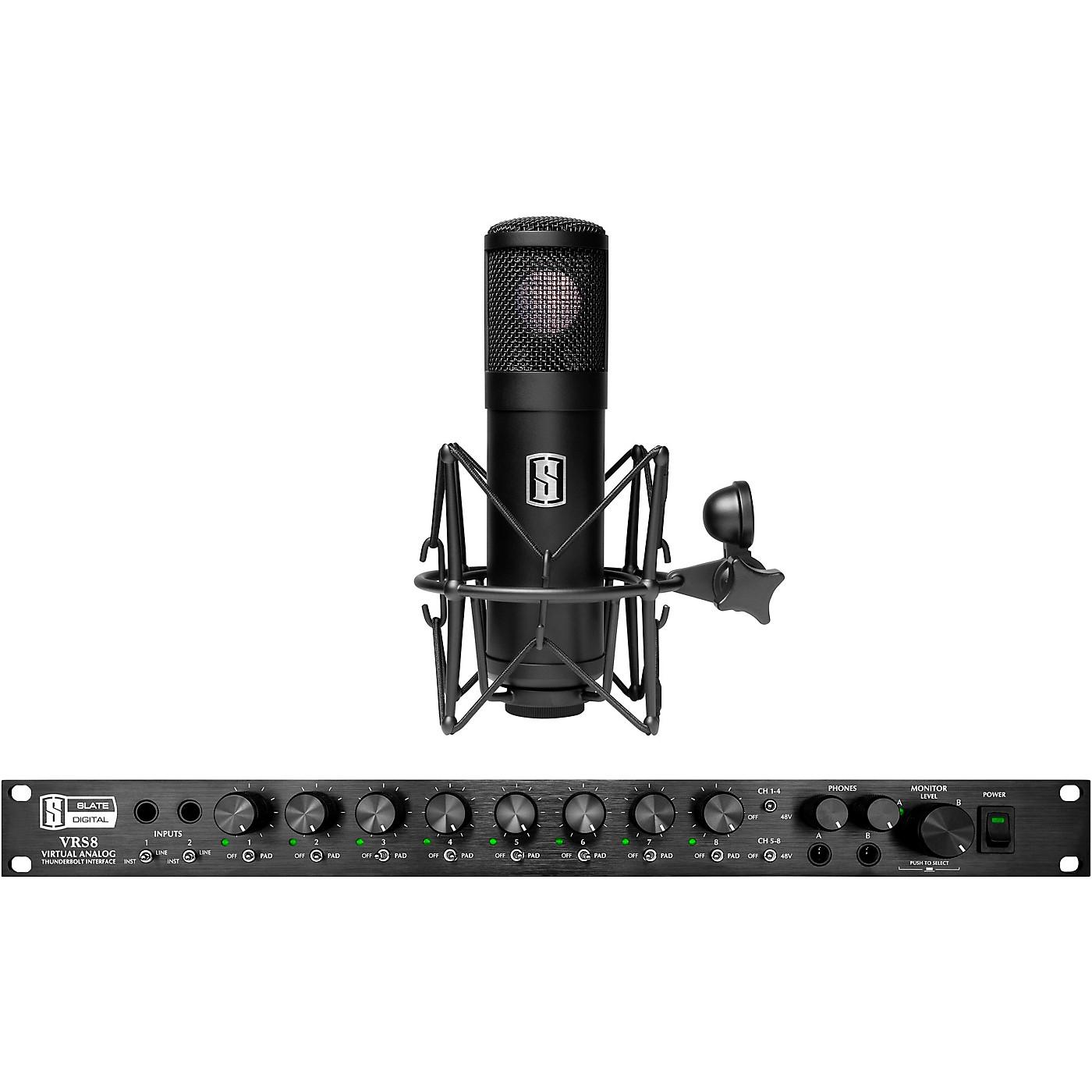 Slate Digital VRS-8 Thunderbolt Audio Interface With Free ML-1 Large-Diaphragm Modeling Microphone thumbnail