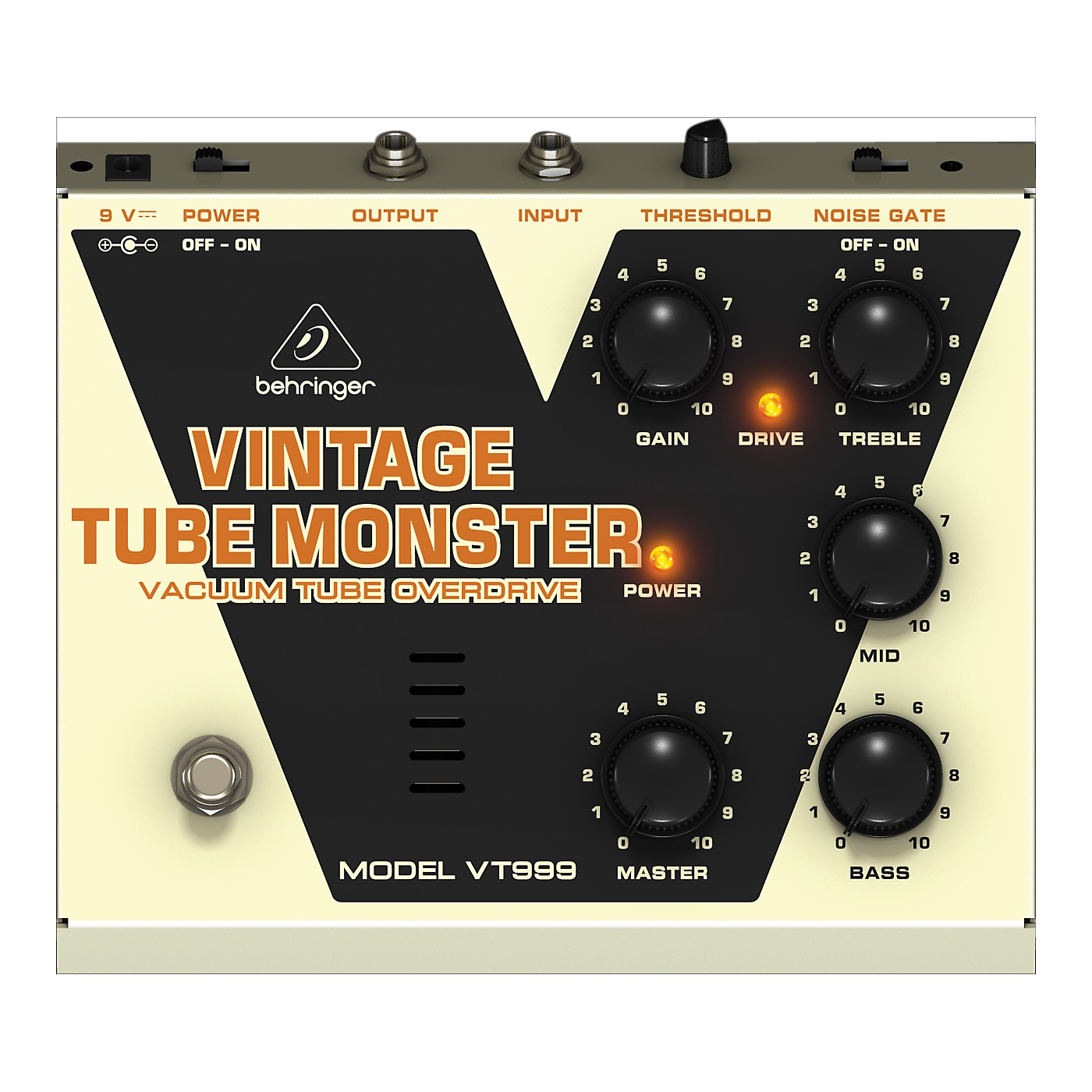 Behringer VT999 Vintage Tube Monster Classic Tube Overdrive Guitar Effects Pedal thumbnail