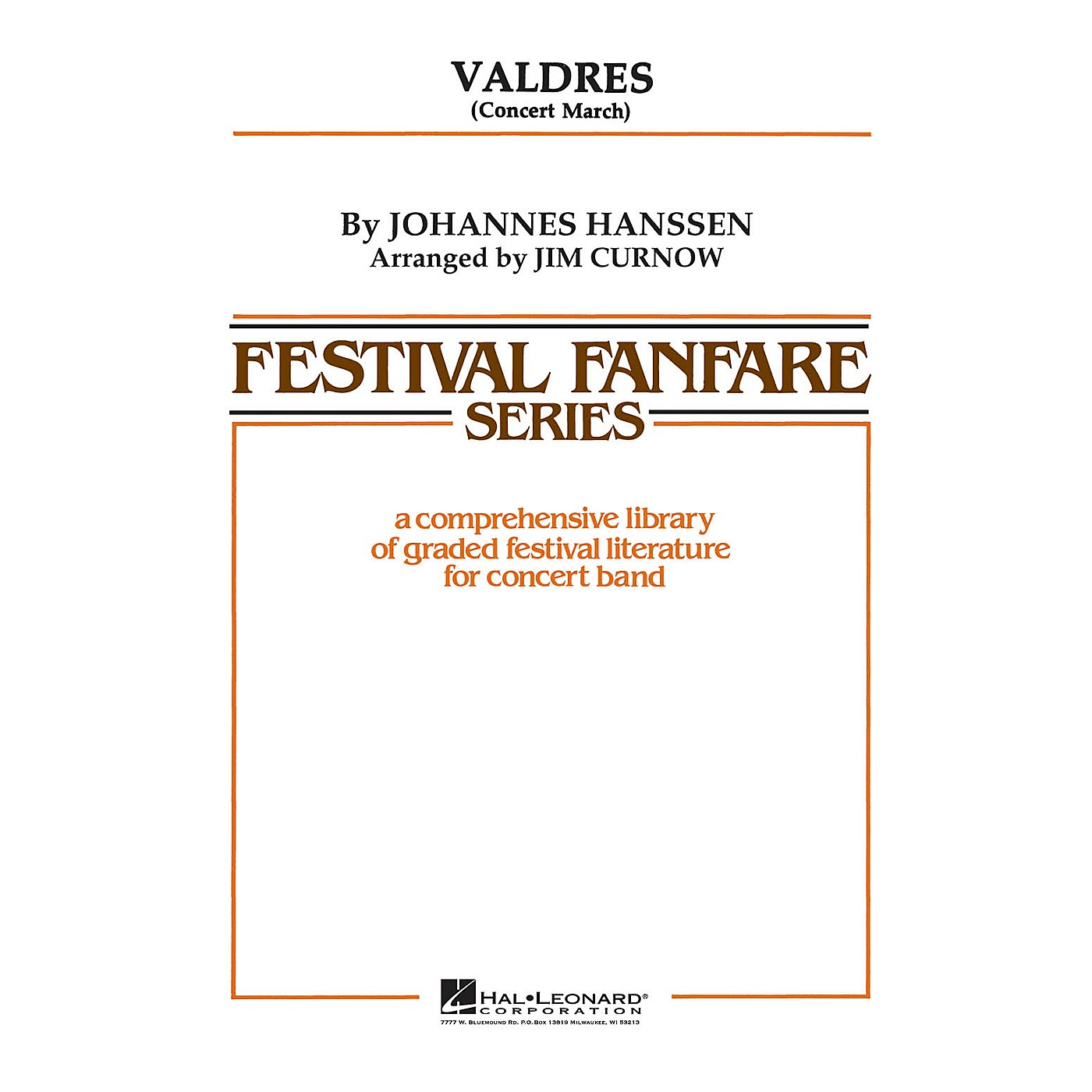 Hal Leonard Valdres - Young Concert Band Level 3 by James Curnow thumbnail