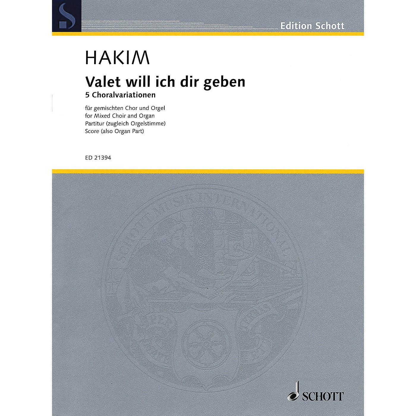 Schott Valet will ich dir geben (SATB Choir and Organ) Composed by Naji Hakim thumbnail
