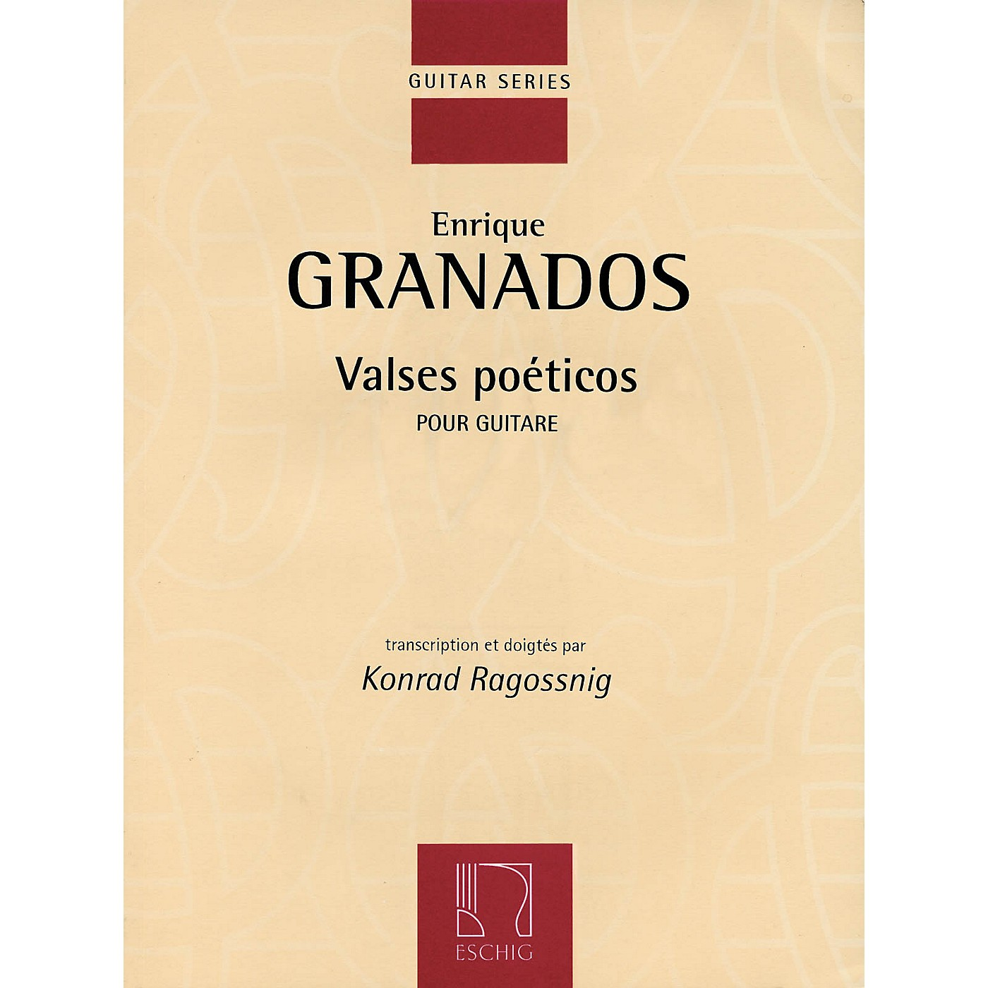 Max Eschig Valses Poeticos (Classical Guitar) Editions Durand Series Softcover thumbnail