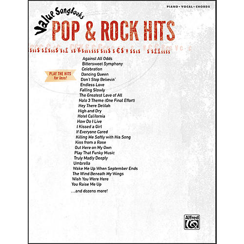 Hal Leonard Value Songbooks Pop & Rock Hits Piano/Vocal/Chords thumbnail